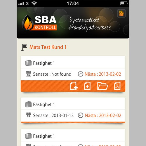 website design for SBA Kontroll