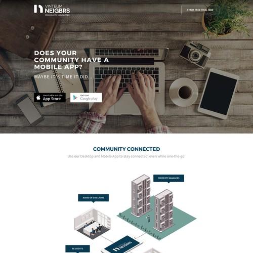App, Micro site design