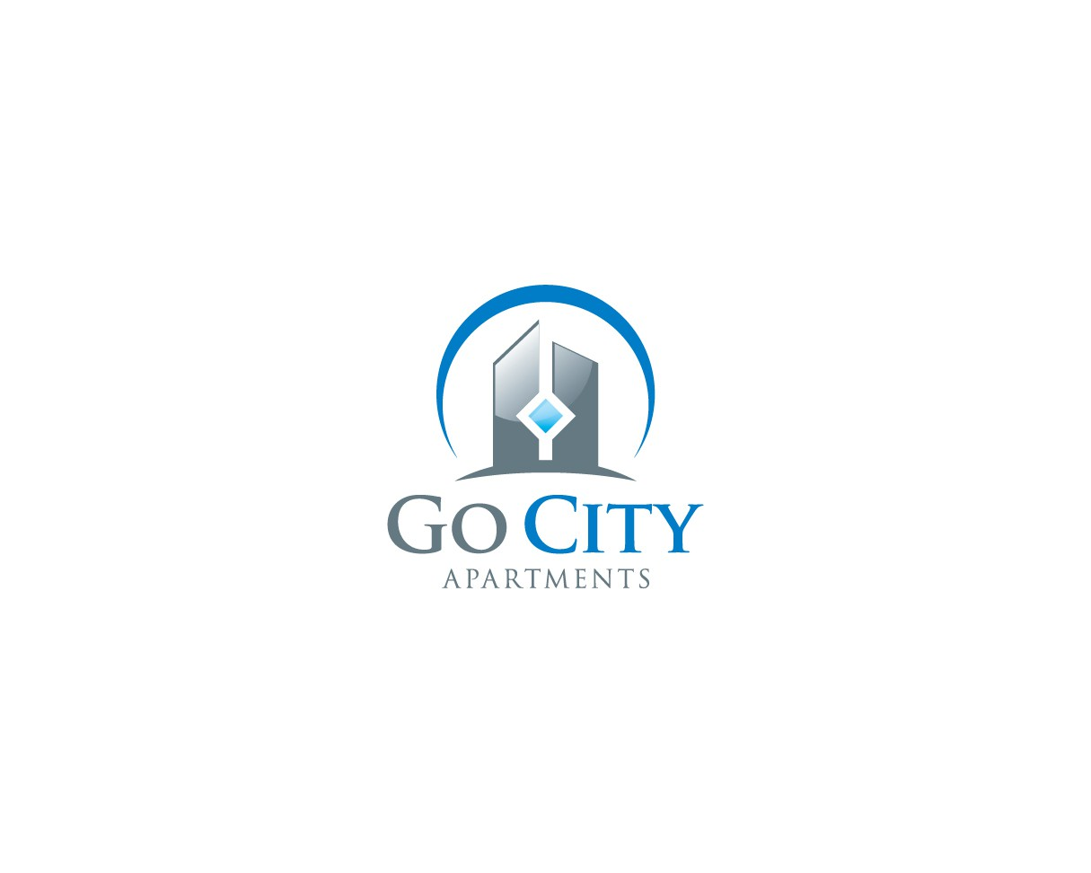 Go City Apartments London - new logo with vibrant splashes of colour