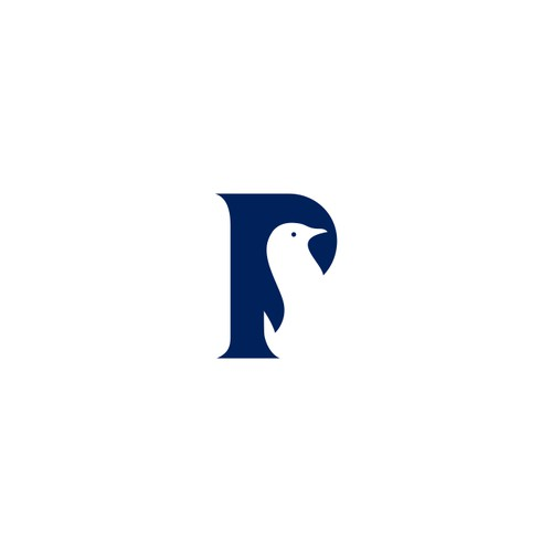 Negative space logo for Penguin Capital