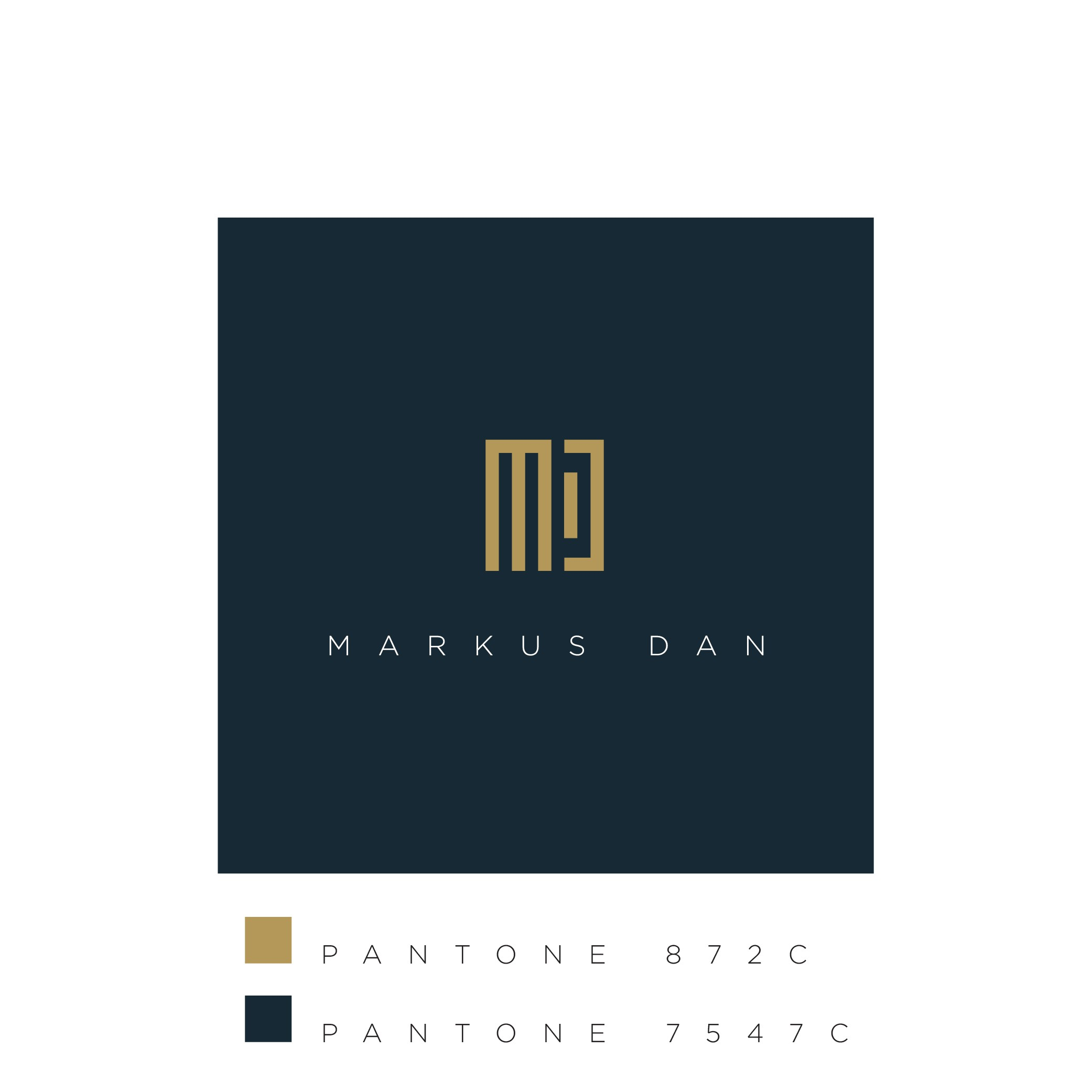 Design a timeless visual identity for Markus Dan, high-price consultant