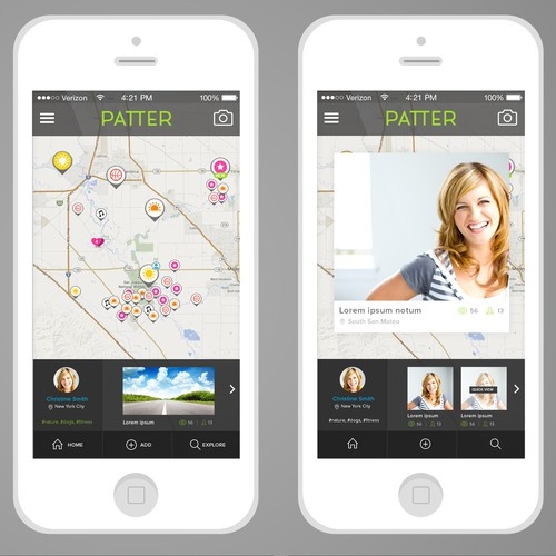 Interactive map for photo sharing iPhone app