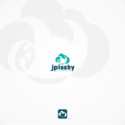 sloth pictoral logo design for jplushy