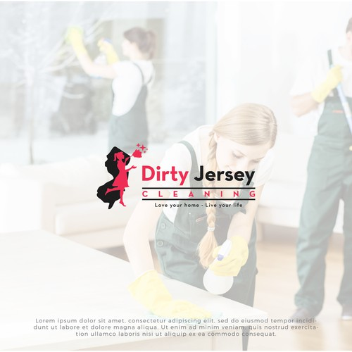 Dirty Jersey Cleaning needs a logo between cute and sexy