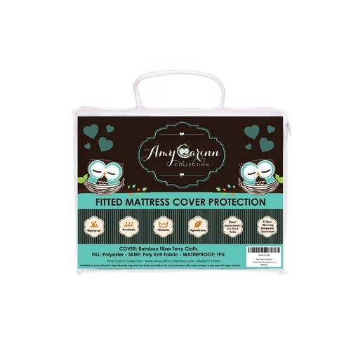 Amy Carinn Collection infant bedding package design.