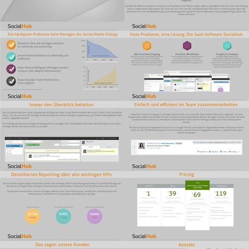 Finalisiere unseren Entwurf einer Sales-Präsentation für eine Social Media Software