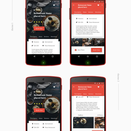 Restaurant Page concept