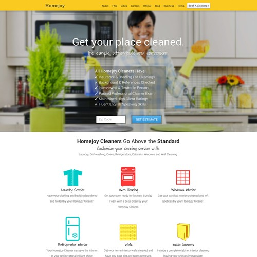 Homejoy needs a new landing page