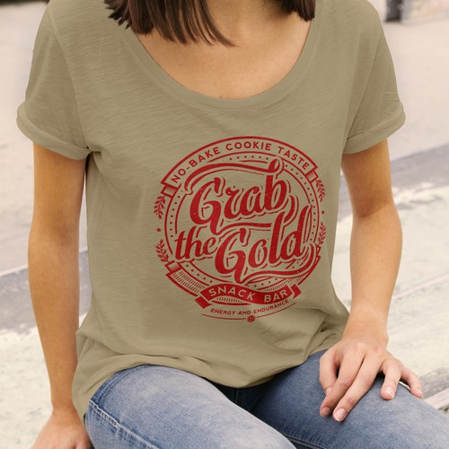 T-shirt design for Grab the Gold