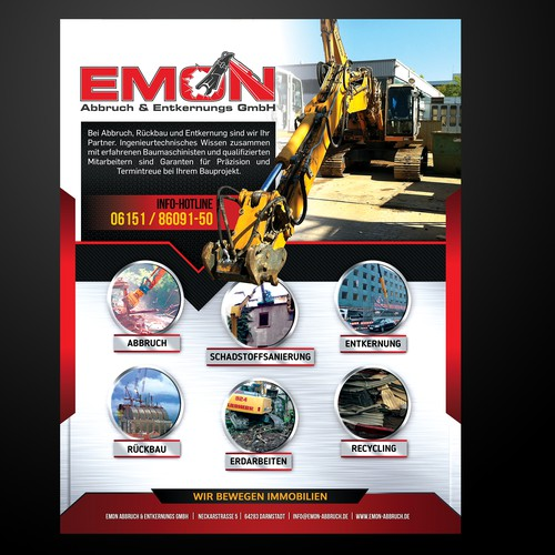 EMON flyer design