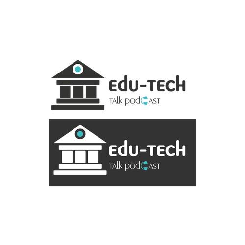 Classic, masculine logo for Edu-Tech Talk Podcast