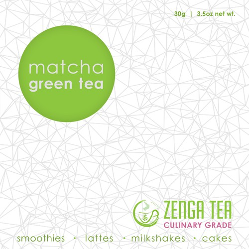 Create beautiful product labels for Zenga Tea