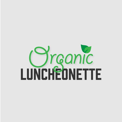 Fresh logo design for an organic food and drink service