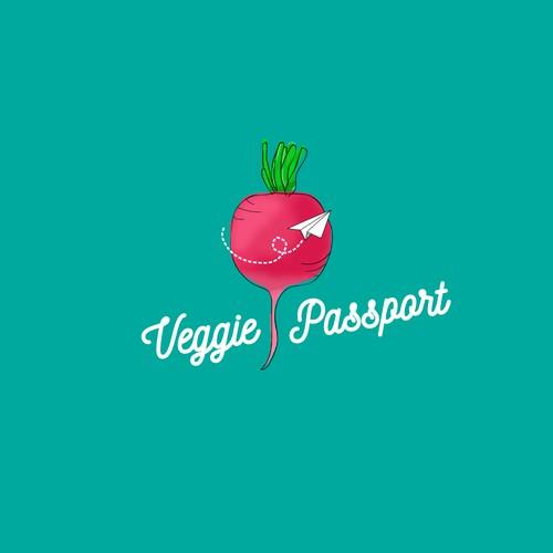 Logo for a vegan travel blog