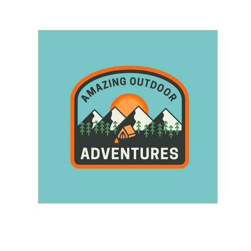 Badge type design for Outdoors brand