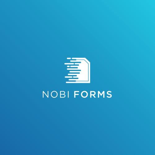 Disruptive Logo Design Needed For Emerging Start Up, Nobi Forms