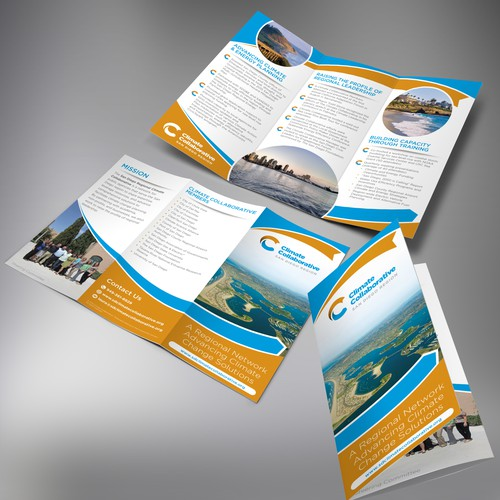 Tri-fold brochure for Climate Collaborative