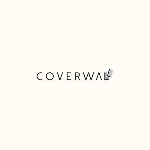 Typography clever logo for Coverwall