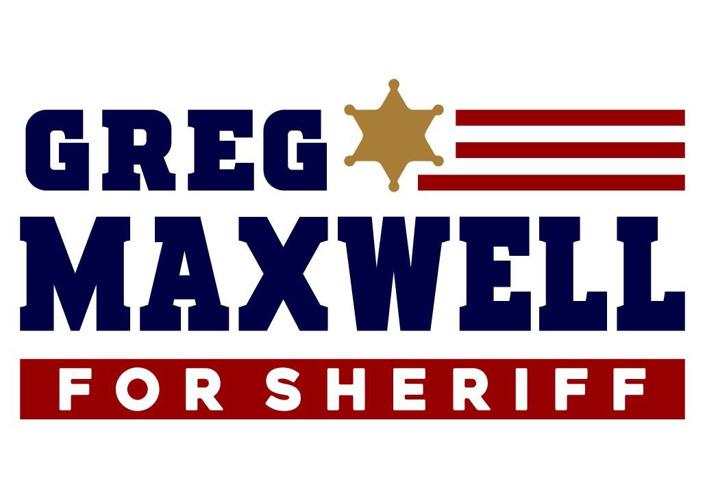 Crisp, clean, simple election for sheriff logo