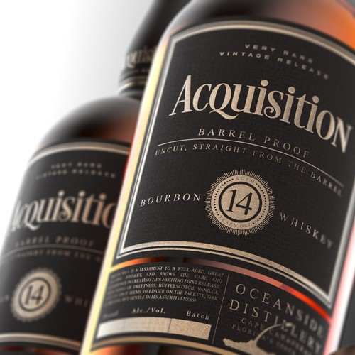 Whiskey Bourbon Label Design
