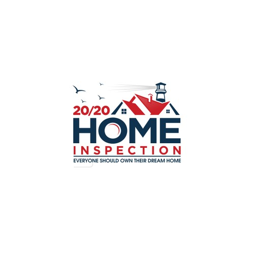 Create a captivating logo for 20/20 Home Inspection