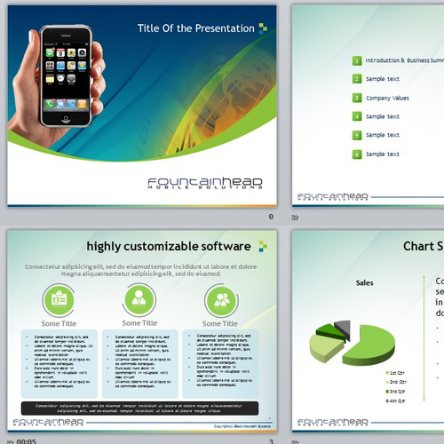 Help Fountainhead Mobile Solutions create a PowerPoint Template!
