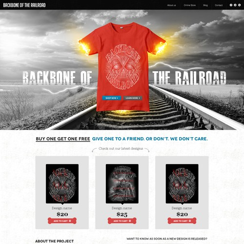 BackboneOfTheRailroad.com needs a new website design