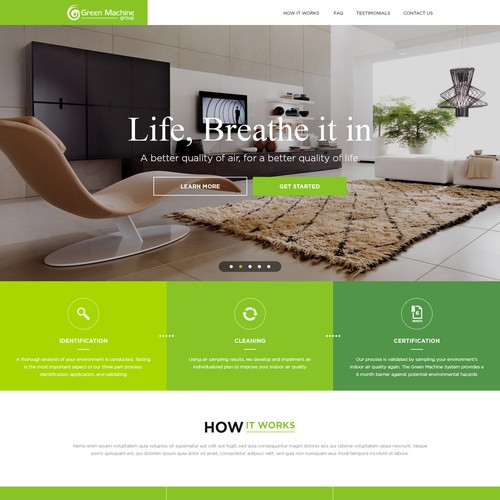 Website needed for Green start up company!