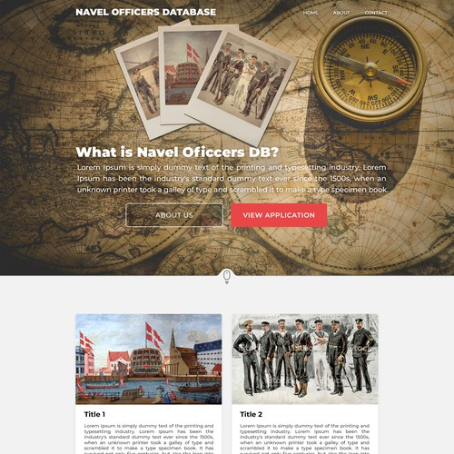 Website design for a Danish Navel officers database.