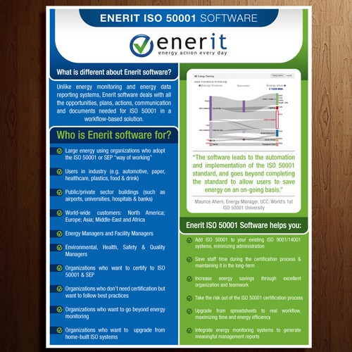 Enerit ISo 50001 software flyer