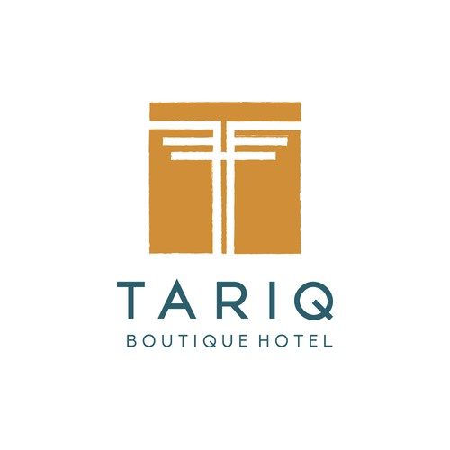 Inca inspired logo for a boutique hotel. Contemporary elegance meets rustic charm