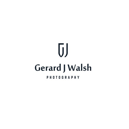 Minimalist geometric logo for photographer