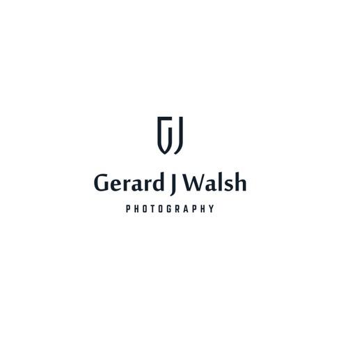 Minimalist geometric logo for photographer