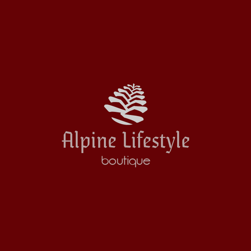 Create an alpine lifestyle illustration for The alpine lifestyle Boutique.