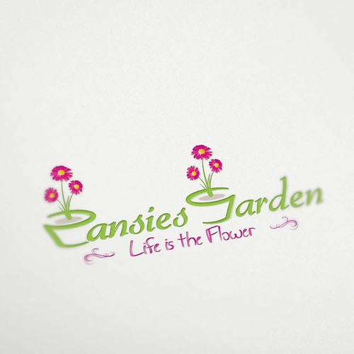 Logo Design for Pansies Garden
