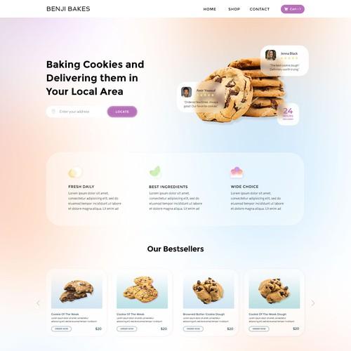 Website Design for cookie delivery service