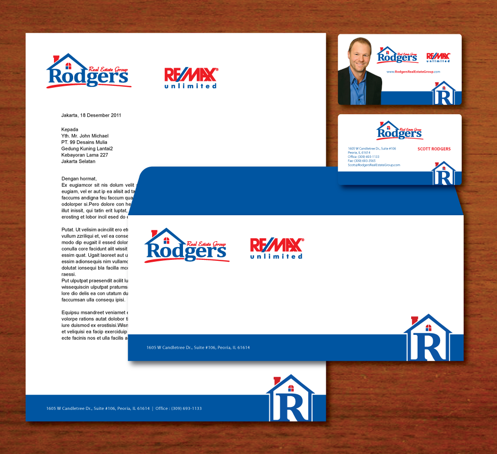 New stationery wanted for Rodgers Real Estate Group