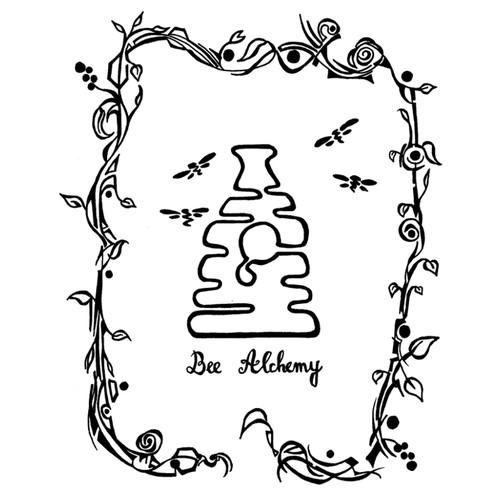Logo ilustration for honey makers