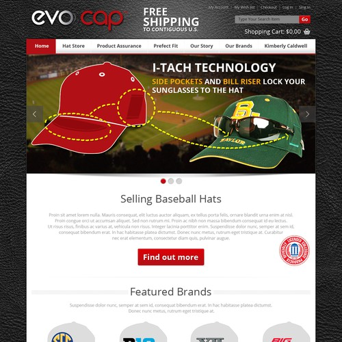Design for eCommerce site
