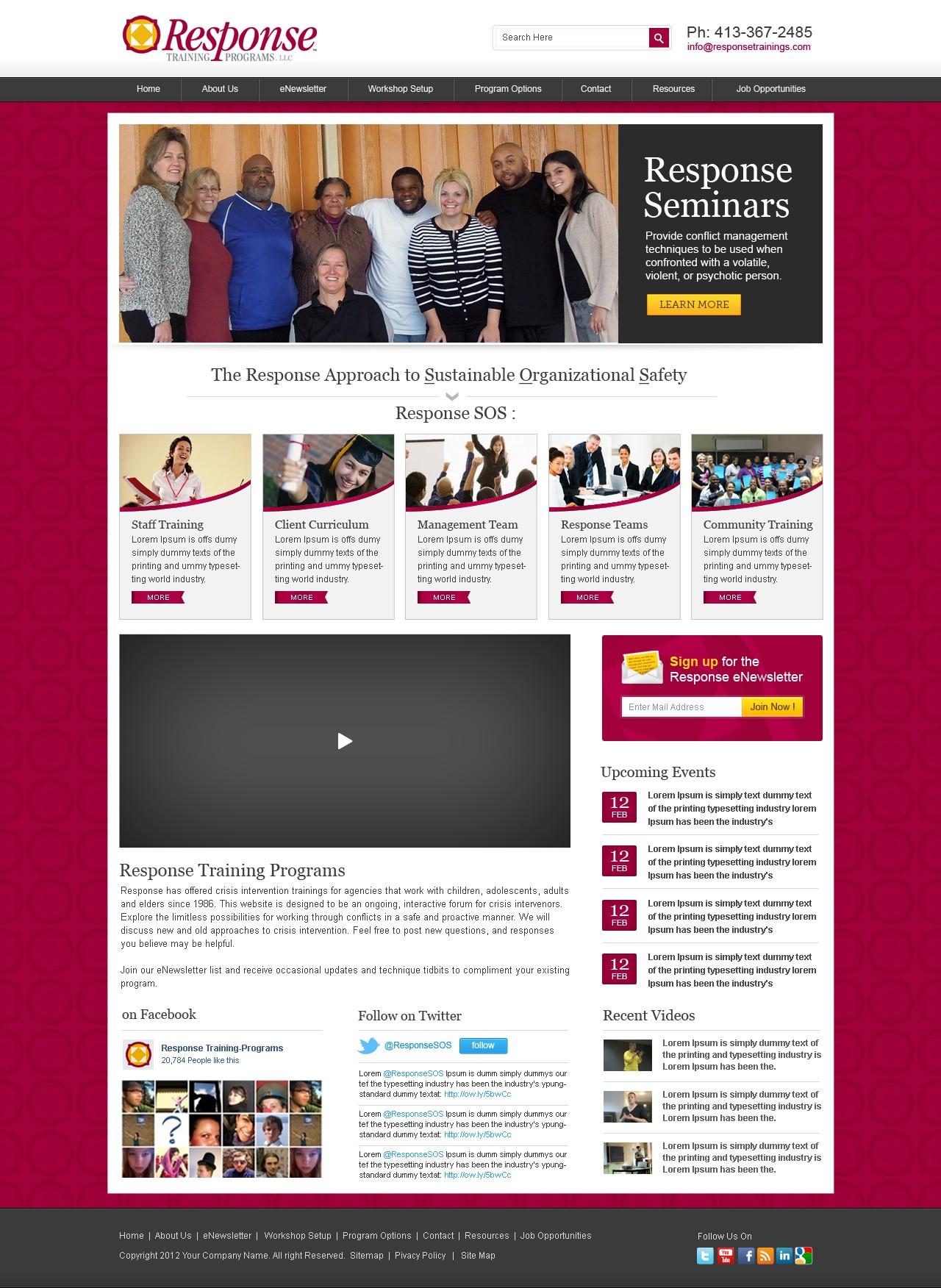 Wordpress design for Response Training Programs, LLC