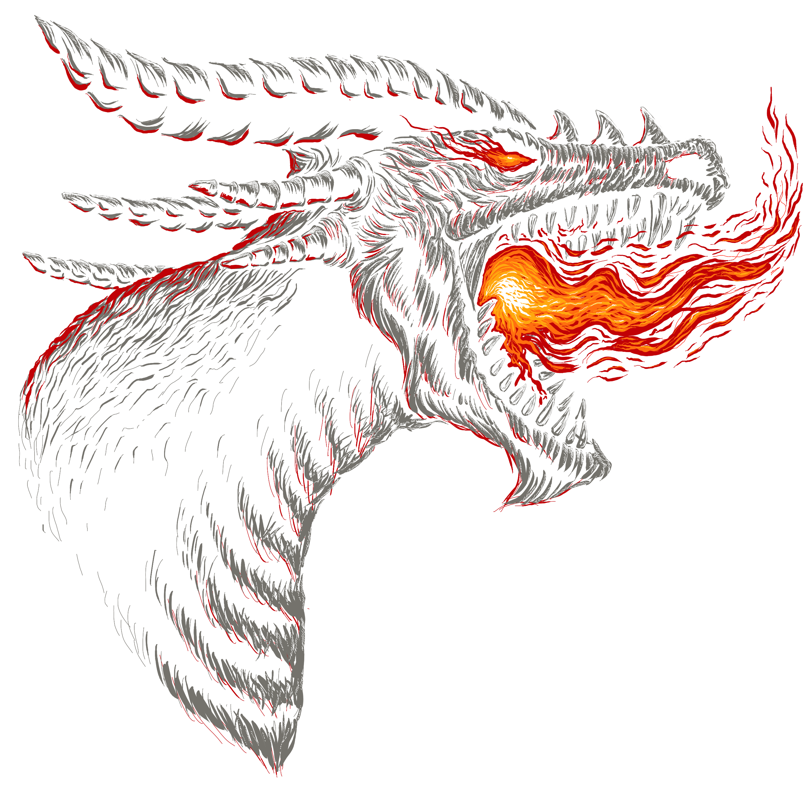 Scary Dragon image for a tee shirt