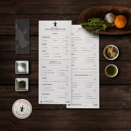 Customizable Menu Design