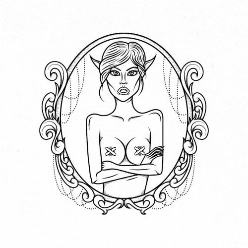 Logo for fantasy art painter.