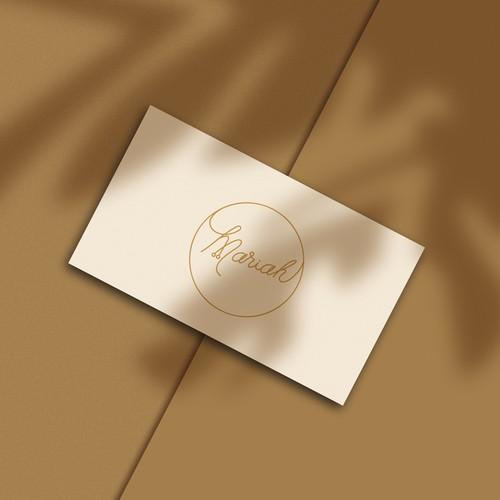 Mariah Mentel logo branding