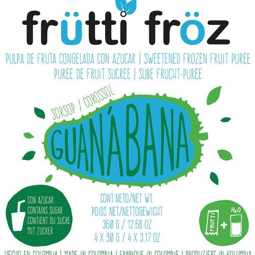 Guanabana label design