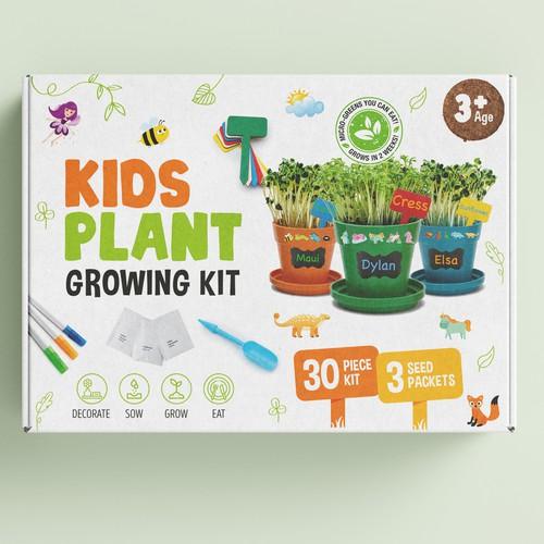 Kids plant growing kit