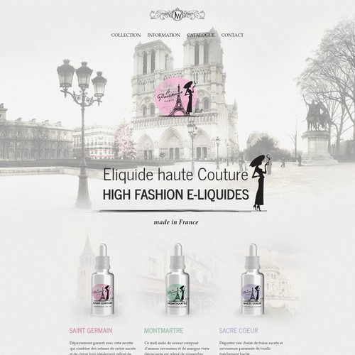 "Homepage For Luxury Brand of eliquid ""La Parisienne"""
