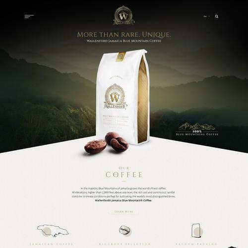Coffee company landingpage