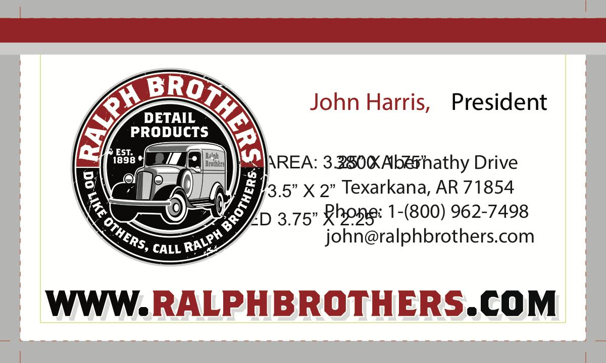 Ralph Bros. business card