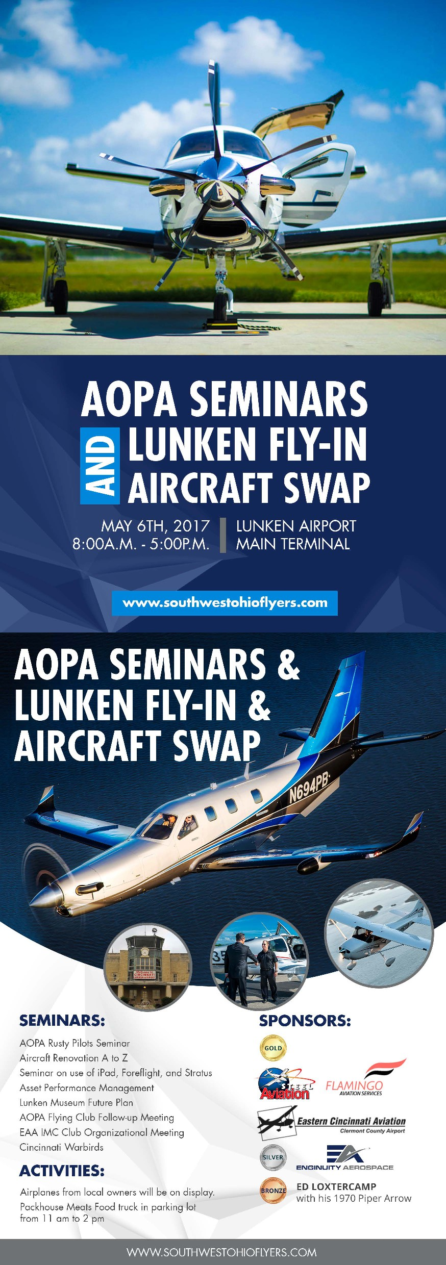 """Design an eye catching flyer for an """"AOPA Seminar and Airplane Swap"""""""